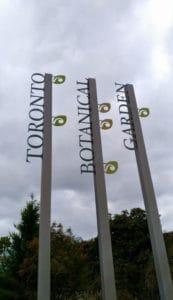 Entrance of Edwards Garden in Toronto